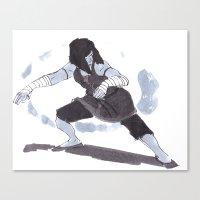 the legend of korra Canvas Prints featuring Korra by Erimero