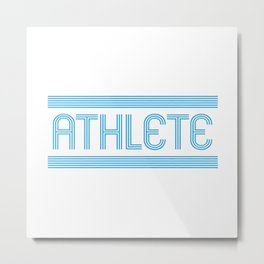Athlete Metal Print