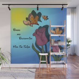 Kiss The Tulips Wall Mural