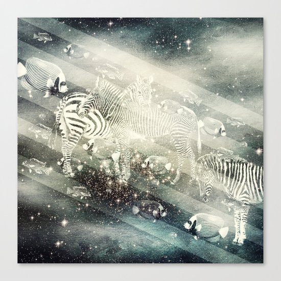 Zebra Way Canvas Print