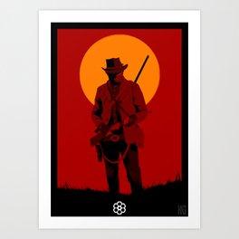 Red Dead Art Print