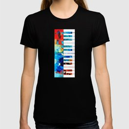 Colorful Piano Art by Sharon Cummings T-shirt