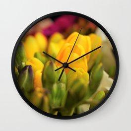 Freesia fest Wall Clock