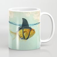 aqua Mugs featuring Brilliant DISGUISE by Vin Zzep