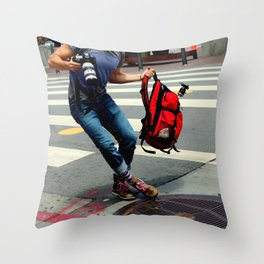 A Travelin' Man Throw Pillow