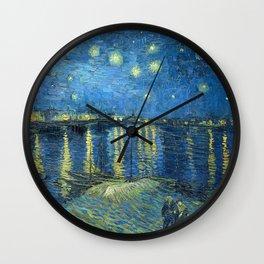 Starry Night Over the Rhone - Van Gogh Wall Clock