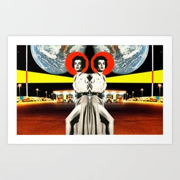 The Earth Was Full That Night, Mirror Image Art Print