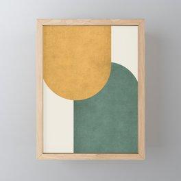 Halfmoon Colorblock 2 - Gold Green  Framed Mini Art Print