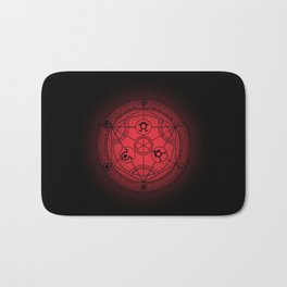 transmutation halftone circle Bath Mat