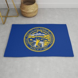 flag Nebraska,america,usa,cornhusker,nebraskan, great plains,midwest,Omaha,Lincoln,Kearney Rug