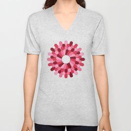 Patched Up Circle Unisex V-Neck