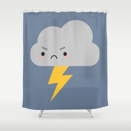 Kawaii Thunder & Lightning Cloud Shower Curtain