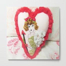 Cupid Girl Metal Print
