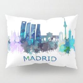 Madrid City Skyline HQ Pillow Sham
