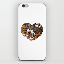 Heart Full Of Cats   Cat Lover Kittens Purr iPhone Skin