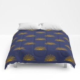 Sol in Indigo Comforters
