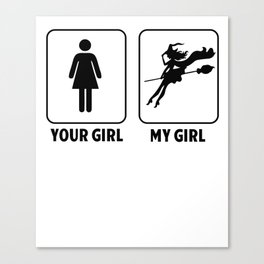 Witch girlfriend Wicca Halloween fun gifts Canvas Print