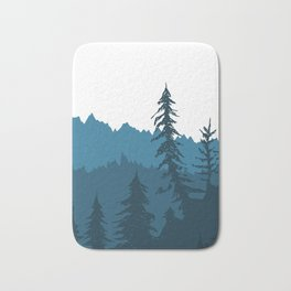 Tree Gradient Blue Bath Mat