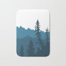 Tree Gradient Blue Bath Mat