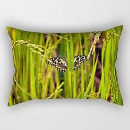 Butterfly in rice Rectangular Pillow