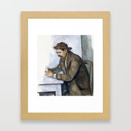 1892 - Paul Cezanne - The Cardplayer Framed Art Print
