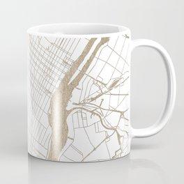 New York City White on Gold Coffee Mug