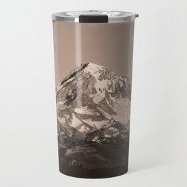 Mount Hood - Black and White - nature photography Travel Mug