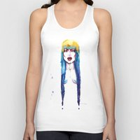 bleach Tank Tops featuring Bleach by Cristina Stefan
