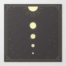 Galactic Gold Canvas Print