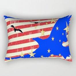 JULY 4TH PATRIOTIC BLUE EAGLE & STARS Rectangular Pillow