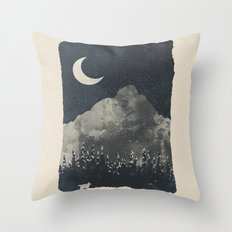 Winter Finds the Wolf... Throw Pillow