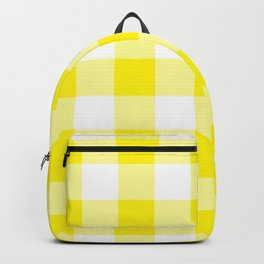 Yellow Gingham Pattern Backpack