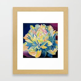 """""""Blue Floral"""" Framed Art Print"""