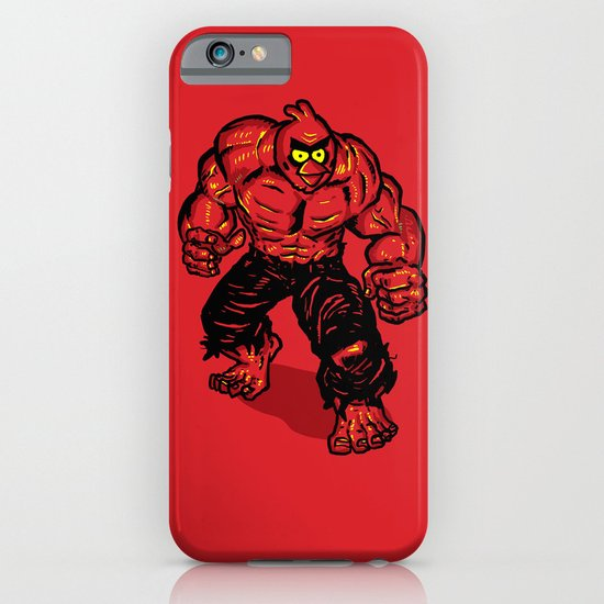 Angry Bird hulk Red iPhone & iPod Case