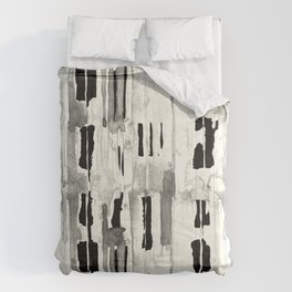 Minimal Black and Cream Abstract Design Comforters
