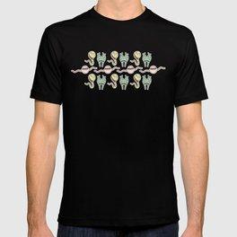 sticker monster pattern 8 T-shirt