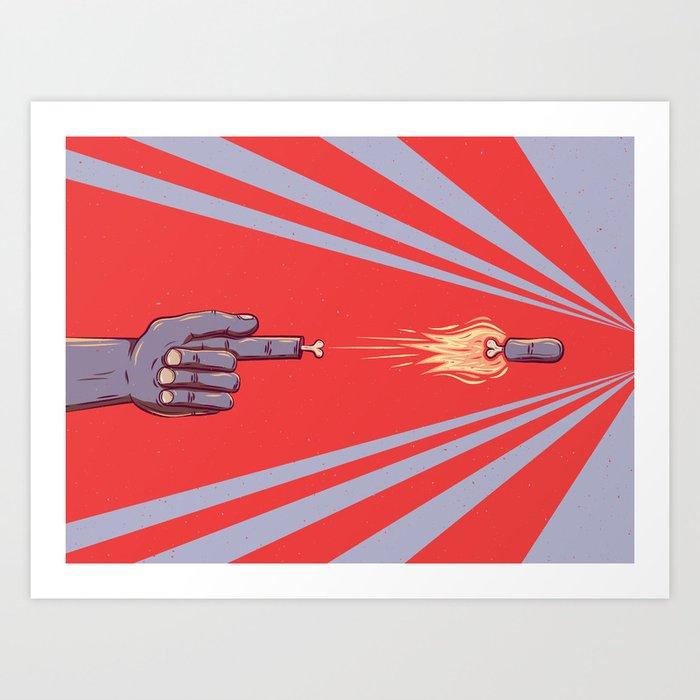 Finger Slinger Art Print