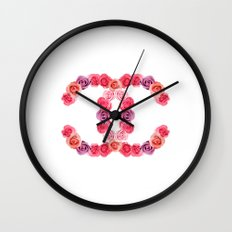 channel of roses Wall Clock