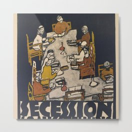 "Egon Schiele ""Secession 49. Exhibition"" Metal Print"
