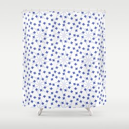 Blue flowers pattern of campanula Shower Curtain