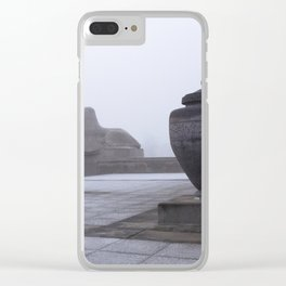 Sphinx in Fog Clear iPhone Case