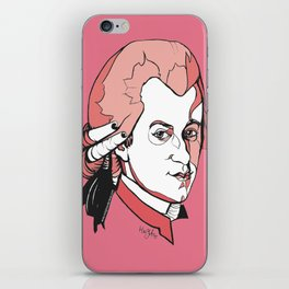 Mozart Composer Mozart Music Composer Vienna Symphony Conductor Italian German English W.A.Mozart Ar iPhone Skin