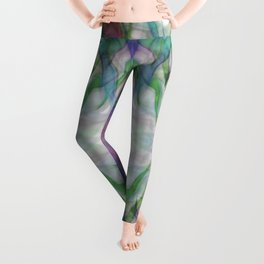 Flames Of Light Muted Abstract Leggings