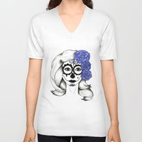 gothic V-neck T-shirts featuring Gothic by bexchalloner