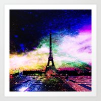 eiffel tower Art Prints featuring eiffel tower by haroulita