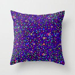 Colorful Rain 14 Throw Pillow