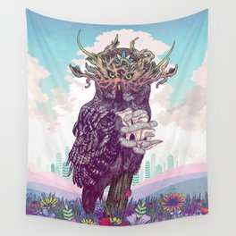 Journeying Spirit (Owl) Wall Tapestry