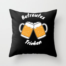 German Beer Tent Partying Hen Night Party Cocktail Throw Pillow