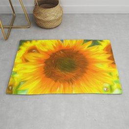 Pastel Sunflower Art Rug