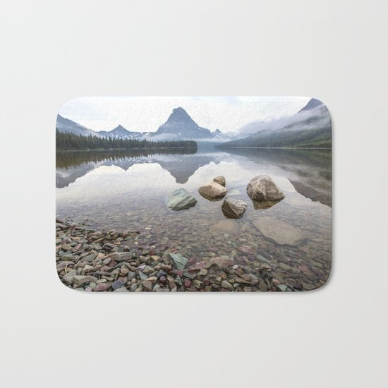 Rocky Lake Mountains Bath Mat